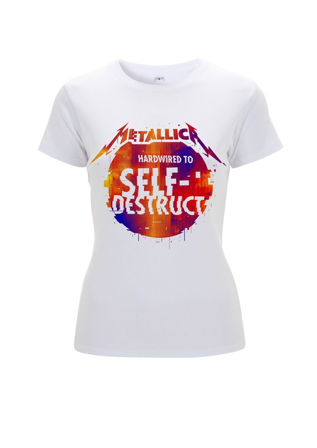 f0a41eb3bc2 Metallica Glitch Ball White Ladies T