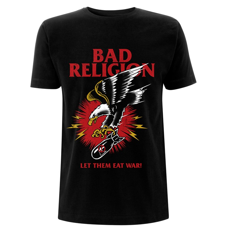 RTBADTSBBOM - Bad Religion - Bomber Eagle Black T