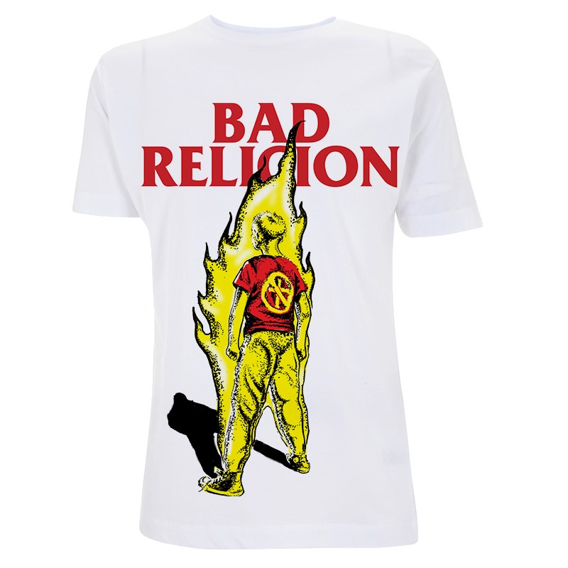 RTBADTSWBOY - Bad Religion - Boy On Fire White T