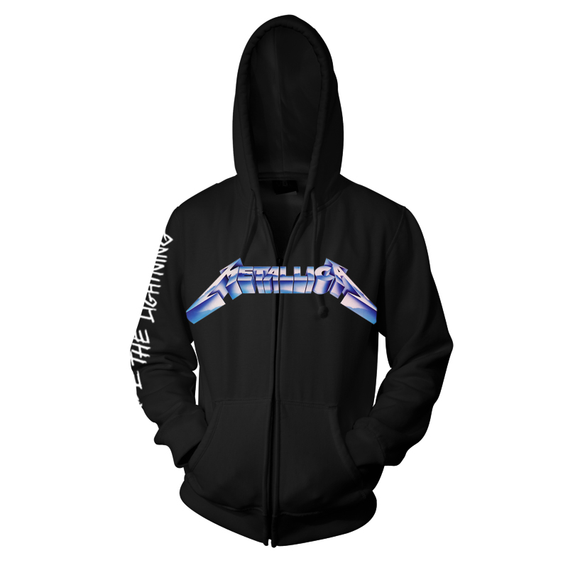 RTMTL(EMP)ZHBRID - Metallica (EMP) Ride The Lightening Black Zip Hood - Front