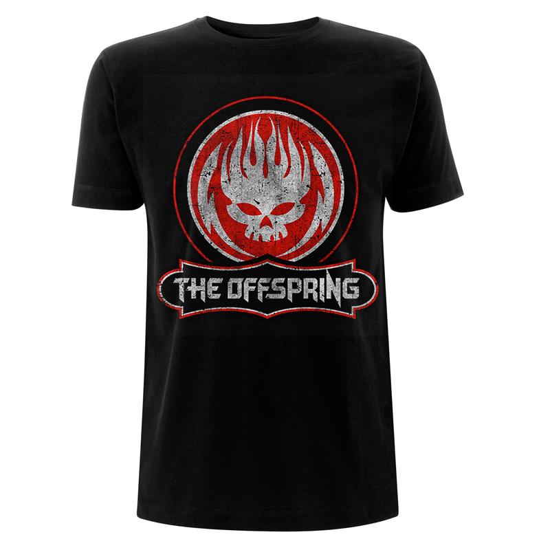 RTTOSTSBDIS - The Offspring - Distressed Skull Black T