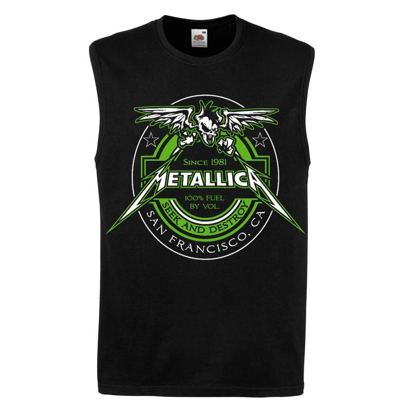 RTMTLVEBFUEL - Metallica - 100% Fuel Black Tank Top