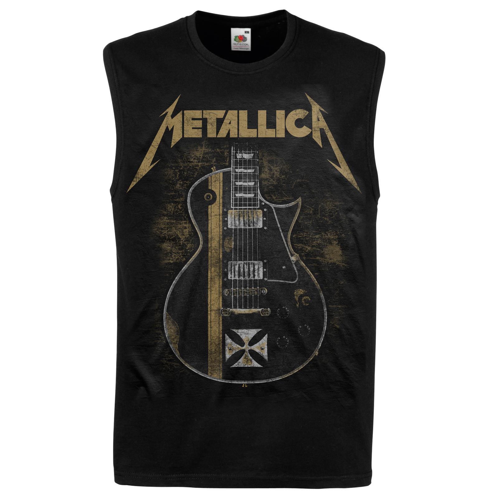 Metallica Hetfield Iron Cross Black Sleeveless Top