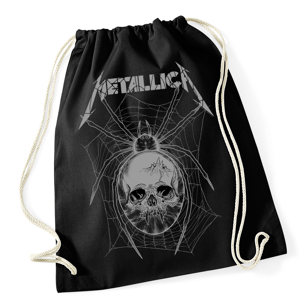 Metallica - Grey Spider Black Drawstring Bag RTMTLSBBGRE