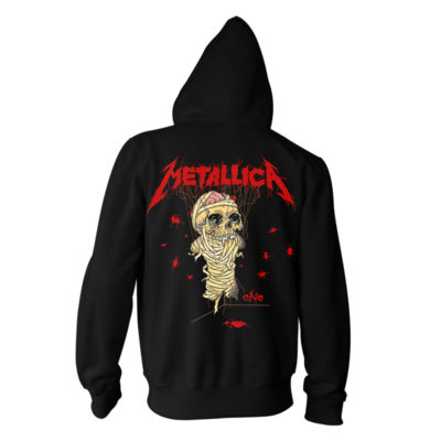 Metallica One Landmine Zip Hood RTMTLZHBLAND - Back