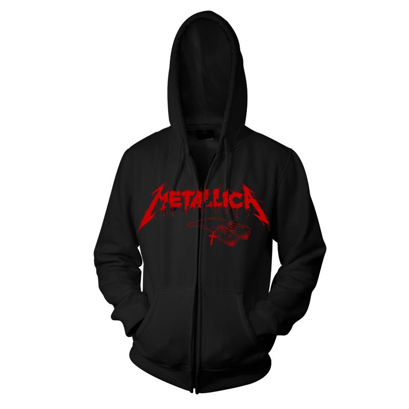 Metallica One Landmine Zip Hood RTMTLZHBLAND - Front