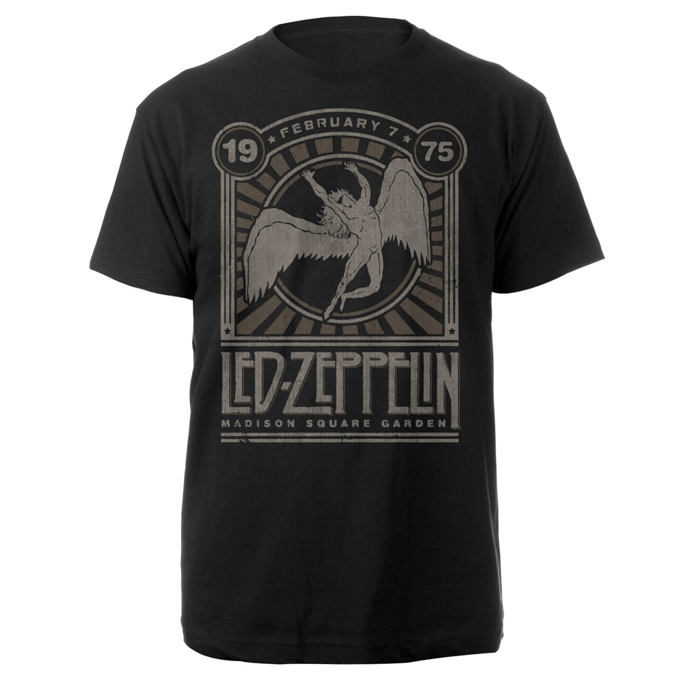 Led Zeppelin-Madison Square Garden 1975 Event-Tee RTLZETSBMAD