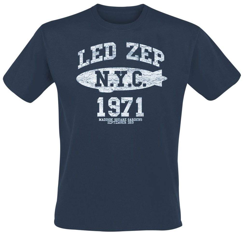 Led Zeppelin-NYC 1971-Navy Tee RTLZETSNNYC