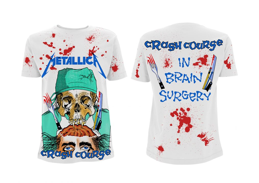 977b59d29df Metallica Crash Course In Brain Surgery A O White T-shirt