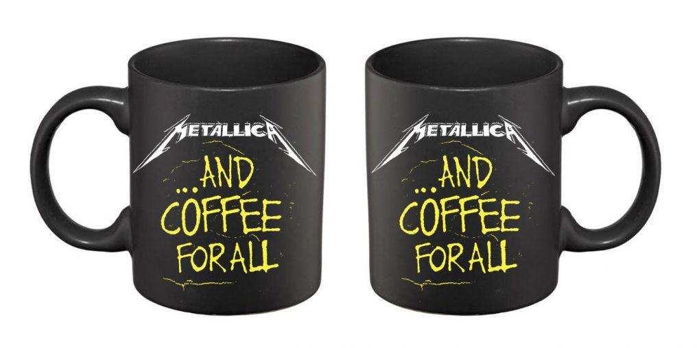 Metallica Coffee For All BLACK MUG RTMTLMUBCOF
