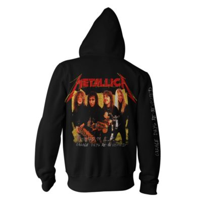 Metallica-Garage Photo Yellow-Zip Hood-B RTMTLZHBGAR