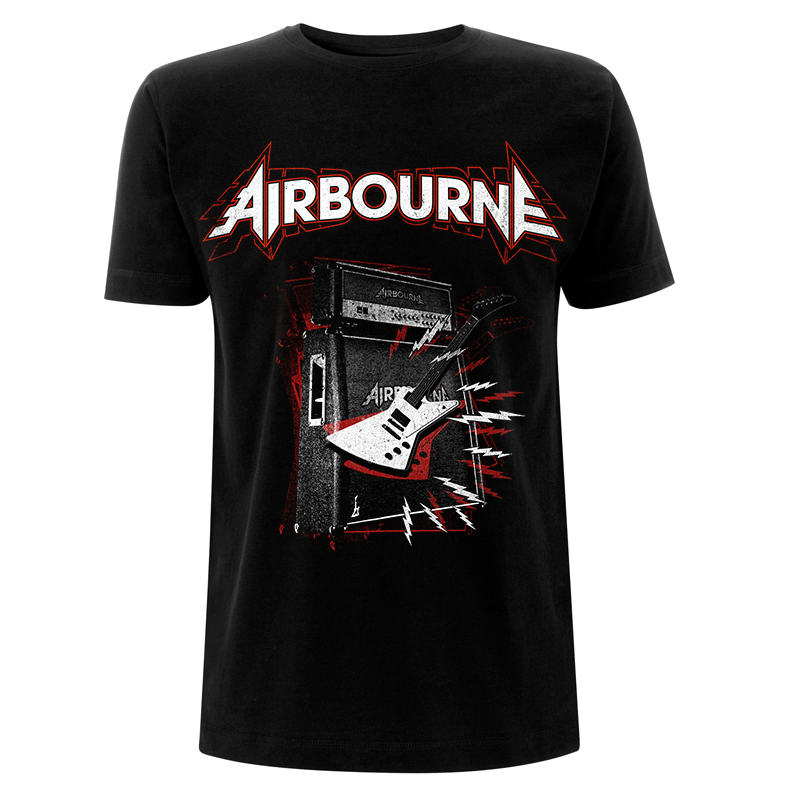 RTAIRTSBBAL Airbourne No Ballads Black T - Front