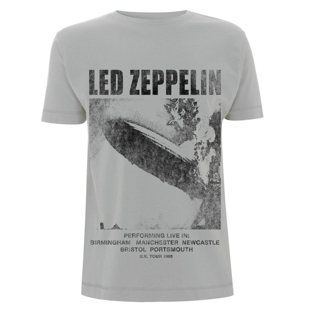 Led Zeppelin - UK Tour 1969 LZ1 Ice Grey T RTLZETSIGUKTOUR