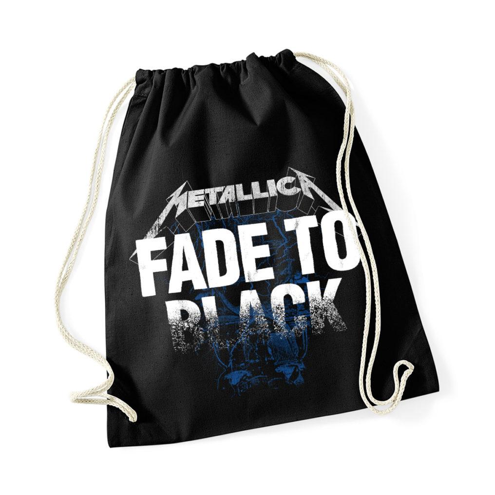 Metallica Fade To Black Drawstring Bag RTMTLSBBFAD