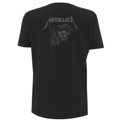 Metallica Japanese Justice All Over Black Back MTLTSBJAP