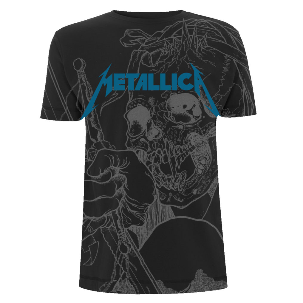 Metallica Japanese Justice All Over Black MTLTSBJAP