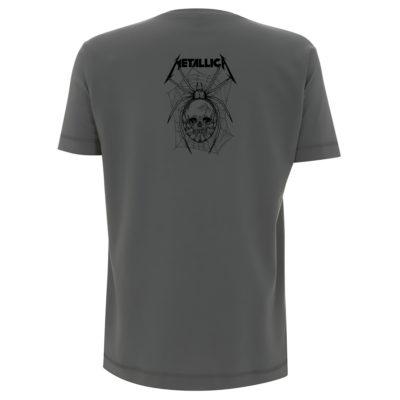 Metallica Spider All Over Charcoal Back MTLTSCHSPI