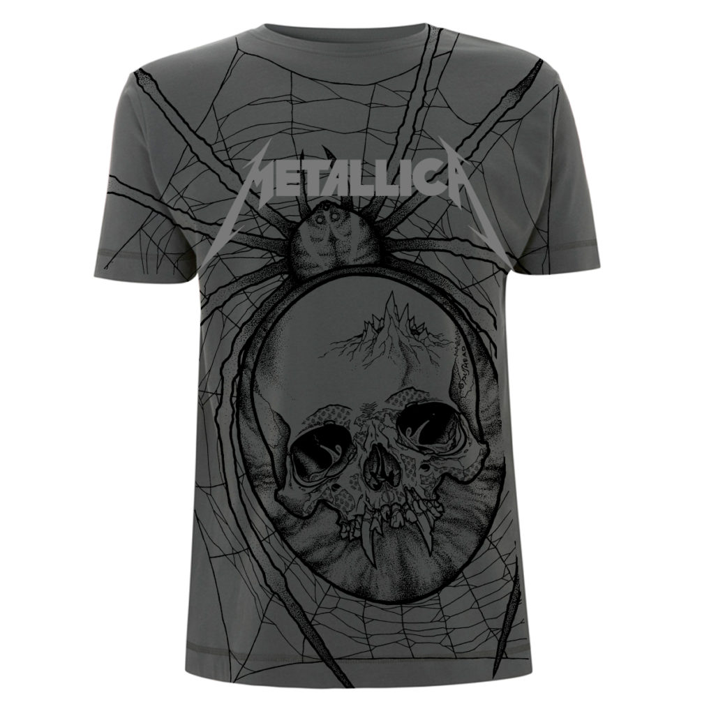 Metallica Spider AllOver Charcoal MTLTSCHSPI