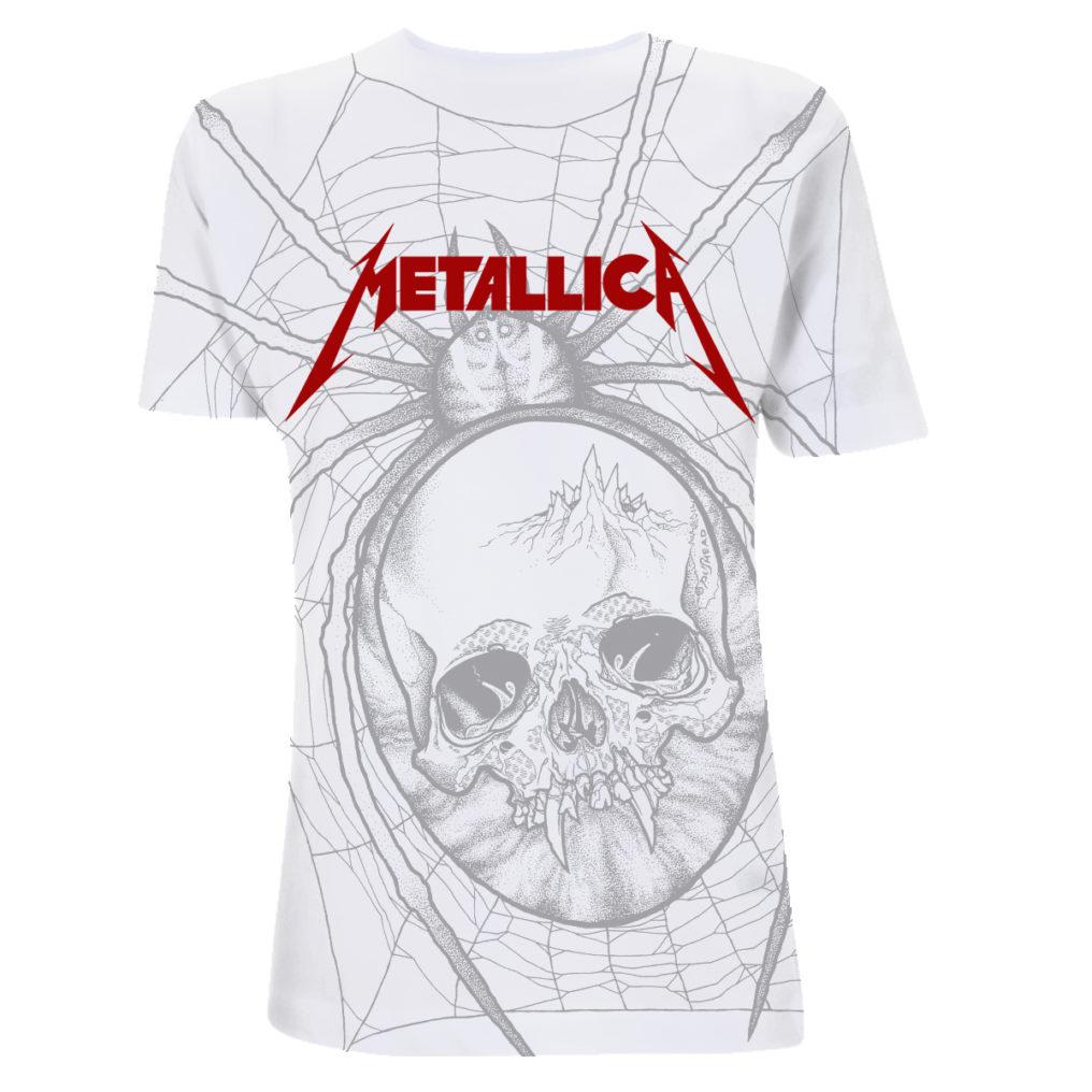 Metallica Spider AllOver White 2 MTLTSWSPI
