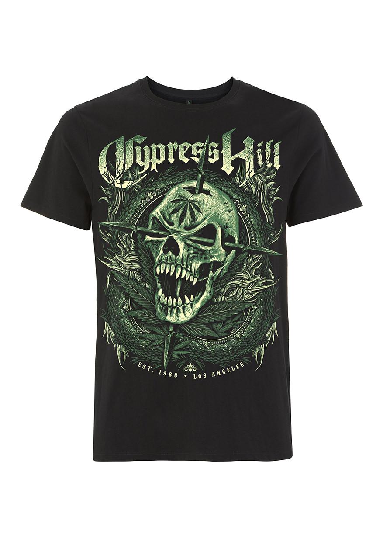 RTCPHTSBFAN Cypress Hill Fangs Skull Black T