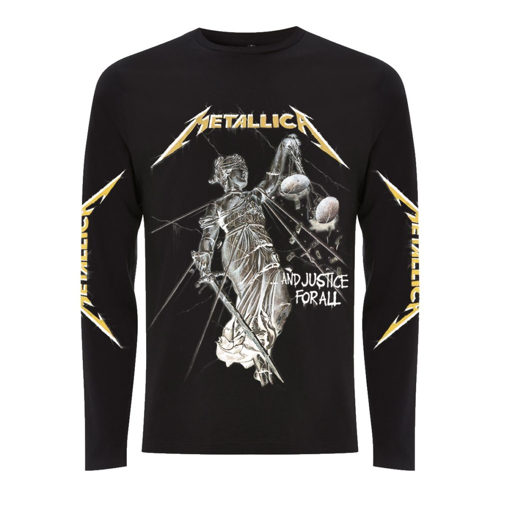 RTMTLLSBAND-METALLICA-AND JUSTICE FOR ALL BLACK LONGSLEEVE T (FRONT)