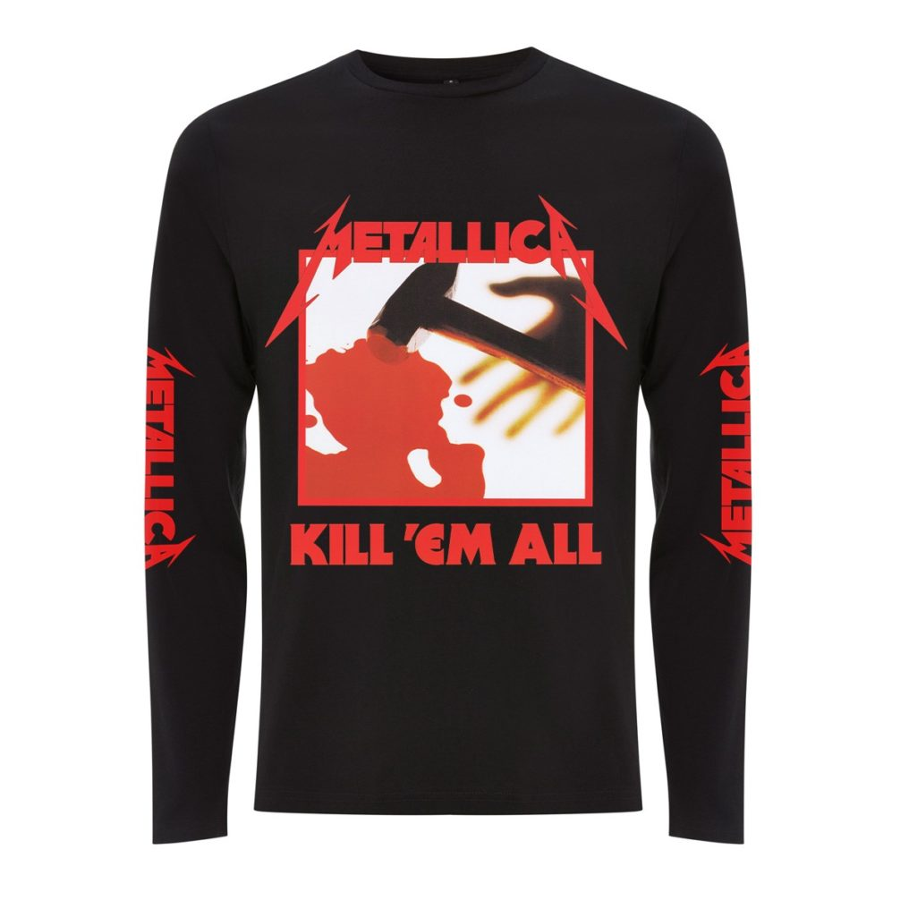 RTMTLLSBKIL-METALLICA-KILL EM ALL LONG SLEEVE T BLACk (FRONT)