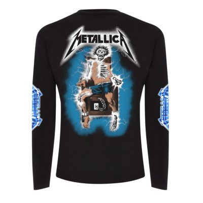 RTMTLLSBRID-METALLICA-RIDE THE LIGHTENING BLACK LONGSLEEVE T (BACK)