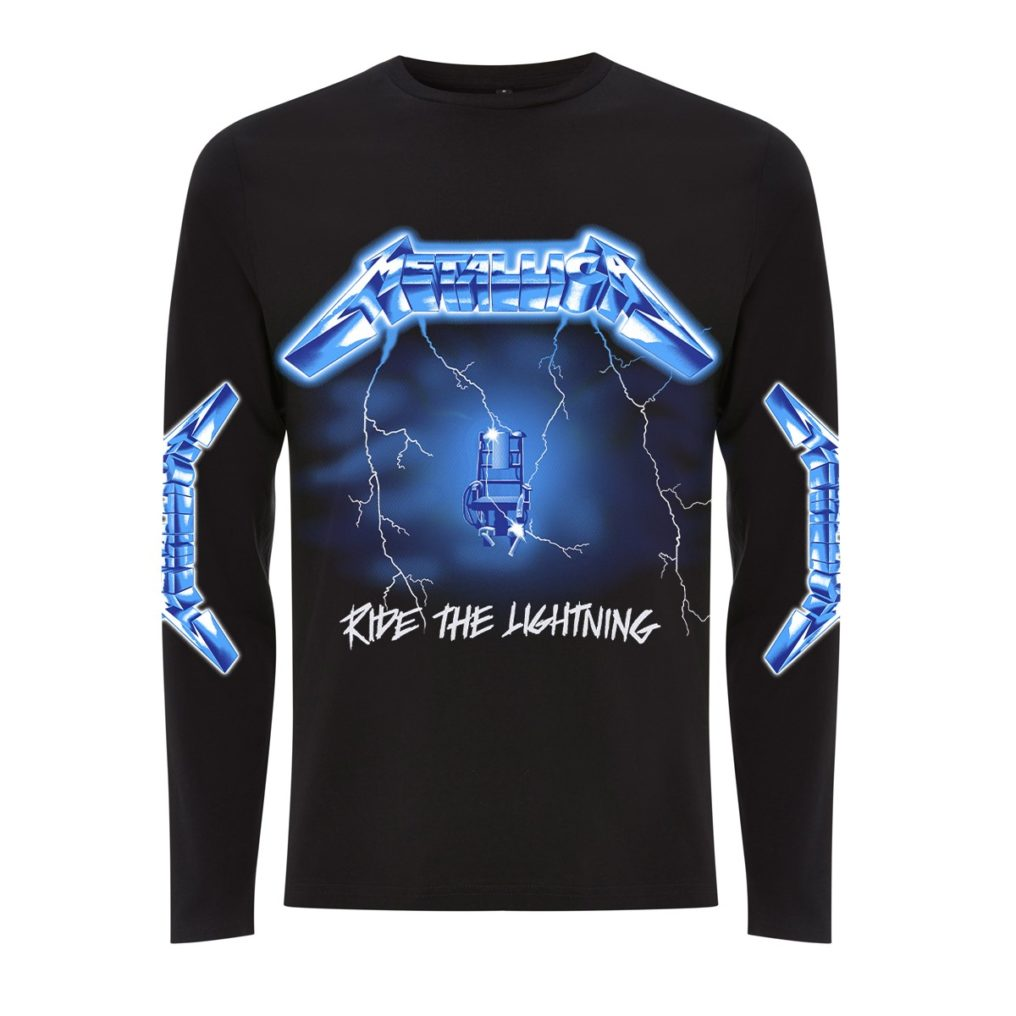 RTMTLLSBRID-METALLICA-RIDE THE LIGHTENING BLACK LONGSLEEVE T (FRONT)