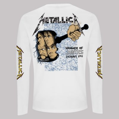 RTMTLLSWAND-METALLICA-AND JUSTICE FOR ALL WHITE LONGSLEEVE T (BACK)