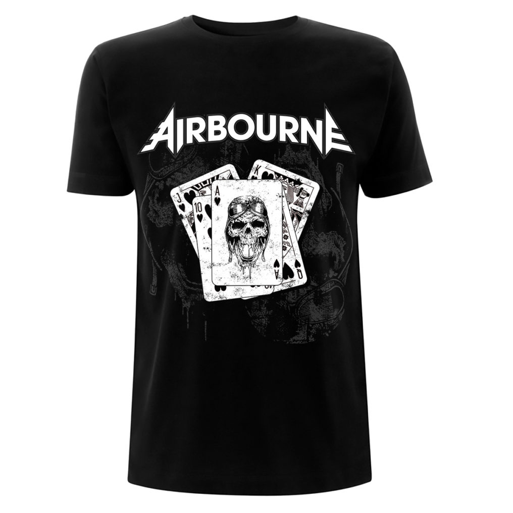 Airbourne Playing Cards Tee Visual AIRTSBPLA