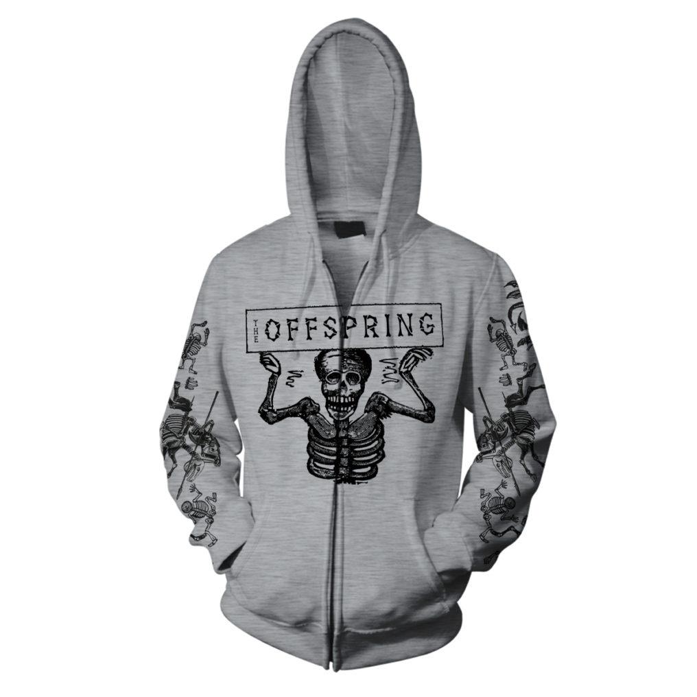 The Offspring Skeletons Grey Hood