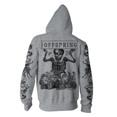 The Offspring Skeletons Grey Hood Back