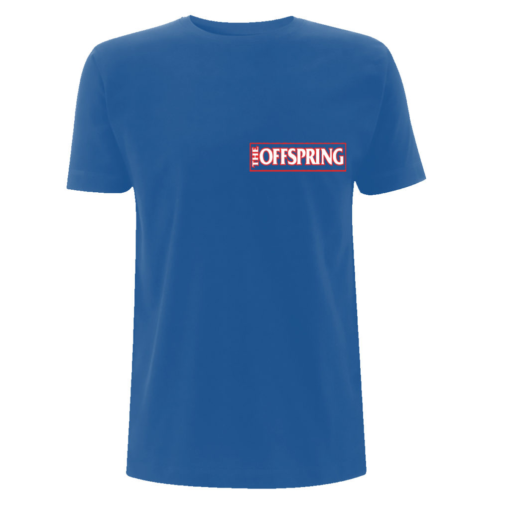 The Offspring White Guy Blue Back Tee