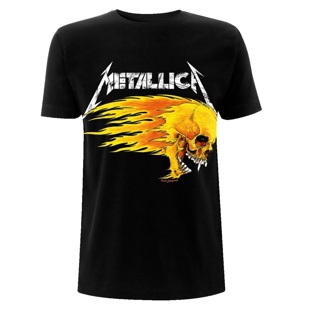 Metallica-Flaming Skull Tour-Tee-F MTLTSBFLA
